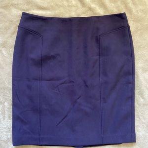Halogen Career Purple Pencil Skirt